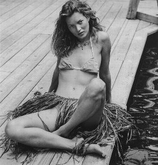 Antique Bruce Weber (b.1956) Kate Moss, Camp Longwood, Adirondack Park, NY, 1997