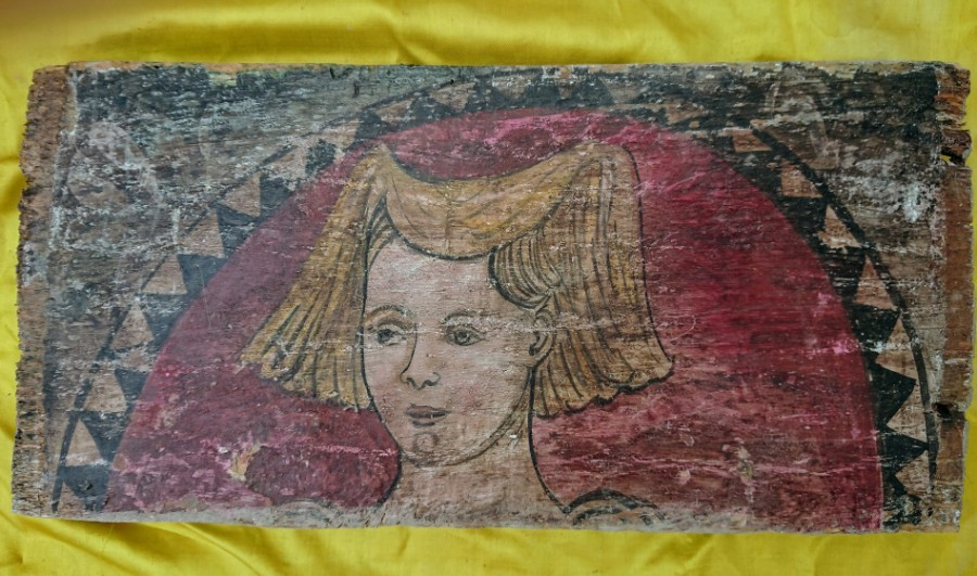 Italian portrait on wood XVI century