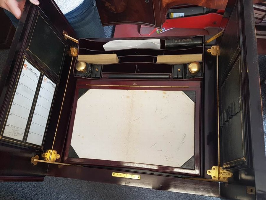 Antique Unique Antique Vintage Edwardian Mahogany Desk, Opening Writting Table, Secretary Writting Table, Office Desk, Patented in Great Britain