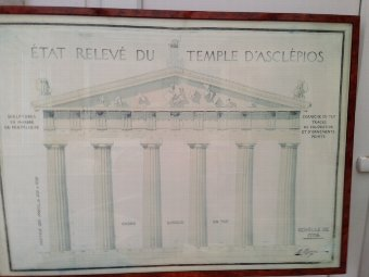 Antique Late 19th century 100cm by 73cm French architectural drawing