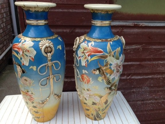 Sensible offers accepted for these very handsome pair of possibly 19th century Chinese 56cm high ...