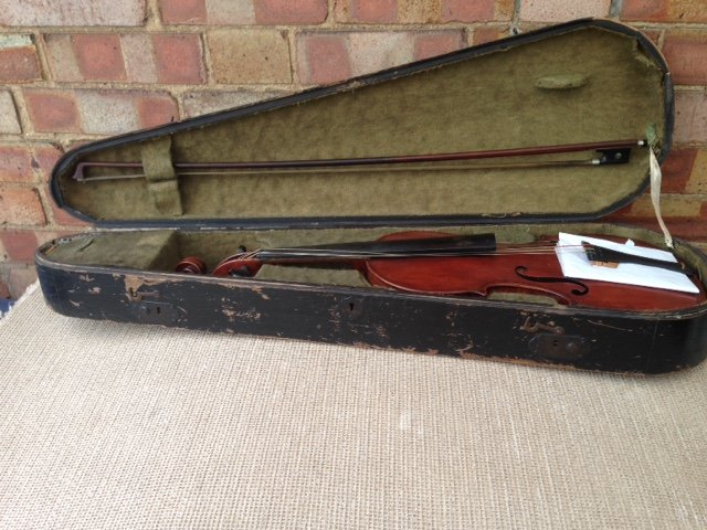 Sensible offers accepted for this mid 1920's 4/4 violin carrying the lable of Scrampelle  dated 1...