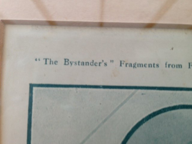 Antique A humourist print of first world war 27cm by 18cm, from the publication, the Bystander's Fragments from France, titled That Periscope Sensation.