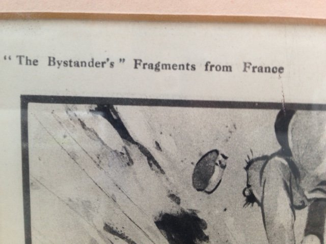 Antique A humourist print of first world war, from the publication, the Bystander's Fragments from France, titled A Miner Success.