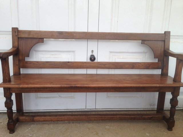 A great looking 20th century solid and comfortable 143cm three seater bench