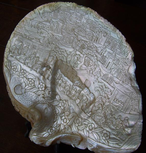 Antique Chinese mother-of-pearl shell