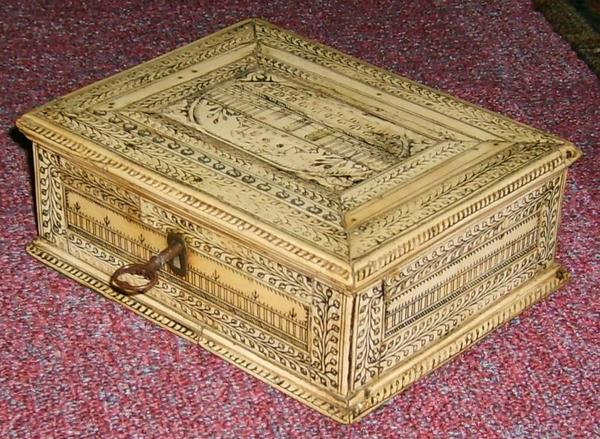 Antique Small ivory box