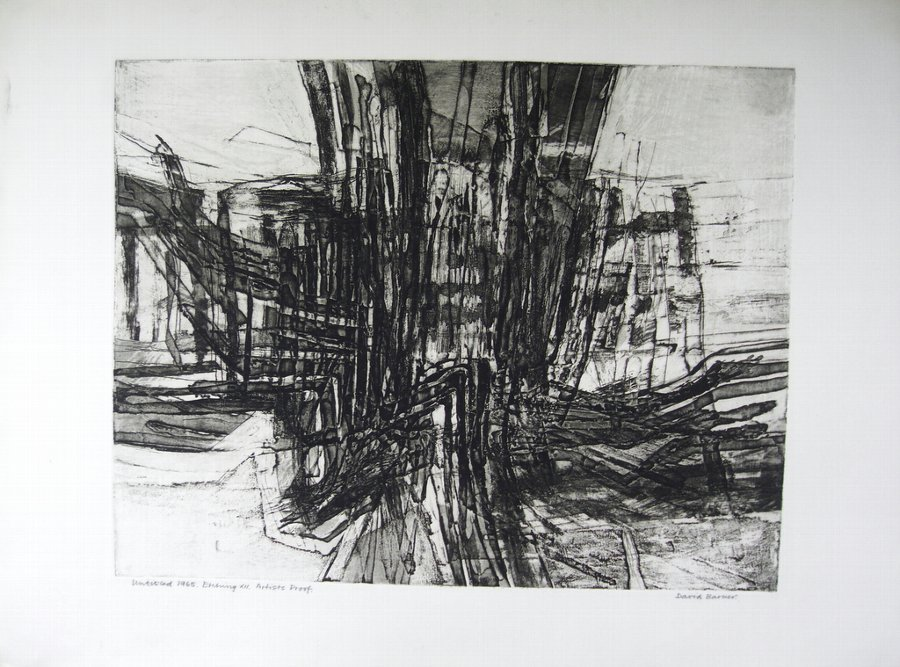 DAVID BARKER. ETCHING X11