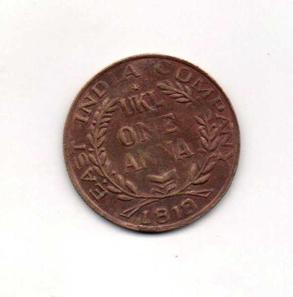 1818 East India Company 200 Years Old One Anna Coin