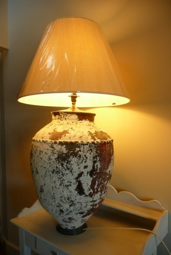 Antique LARGE URN TABLE LAMP C. 1920