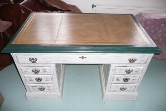 Antique DECORATIVE PAINTED VINTAGE DESK C.1880