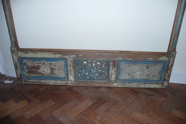 Antique DECORATIVE SCREEN/MIRROR FRAME