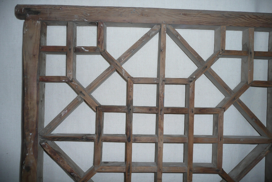 Antique 19TH C. ASTRAGAL WOODEN SCREEN