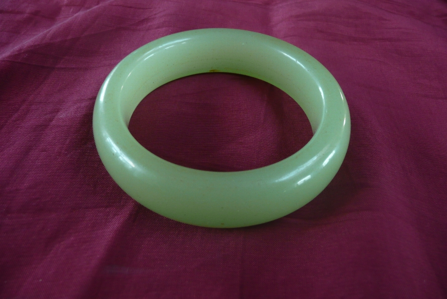 Antique JEWELRY, JADE BANGLE 20TH C.