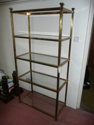 BRASS DISPLAY STAND C.1920
