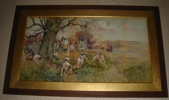 A Pair Of Framed Thomas Blinks Watercolours Depicting Hunting Scenes