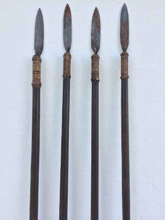 Antique FOUR SUMPIT 80 / 1980mm NATIVE BLOWPIPE SPEAR Primitive Hunting Weapon Knife
