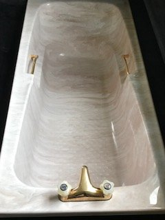 Marble imitation Bathtub