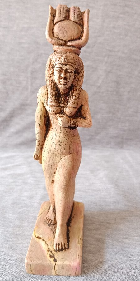 Ancient Egyptian Antique RARE Statue of Striding Ptolemaic Isis Hathor