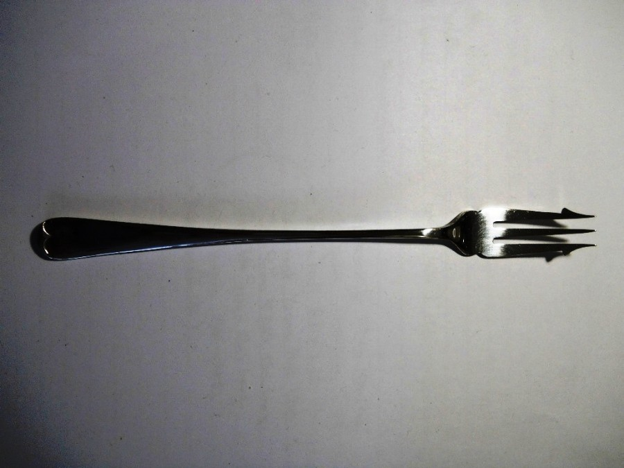 EARLY ROBERT PRINGLE SILVER PLATE PICKLE FORK