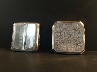 Antique Two silver chased cigarette cases.
