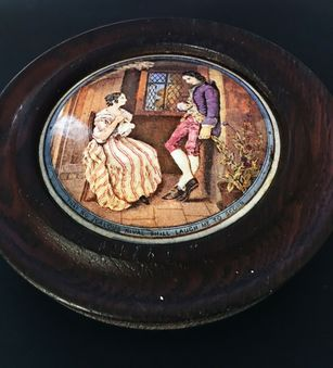 Antique A Prattware Lid ( First Appeal)