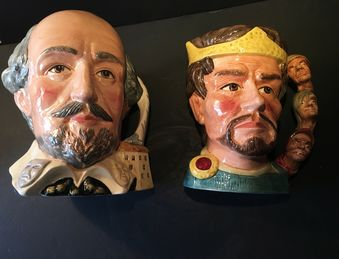 Antique Royal Doulton large character jugs.