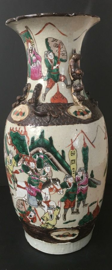 Antique An early 20th century Chinese crackle glaze vase.