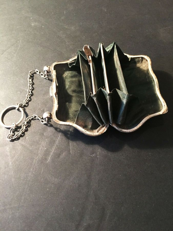 Antique Solid Silver Hallmarked Purse