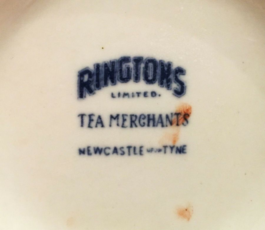 Antique 2 Large Ringtons Tea Merchants Jugs