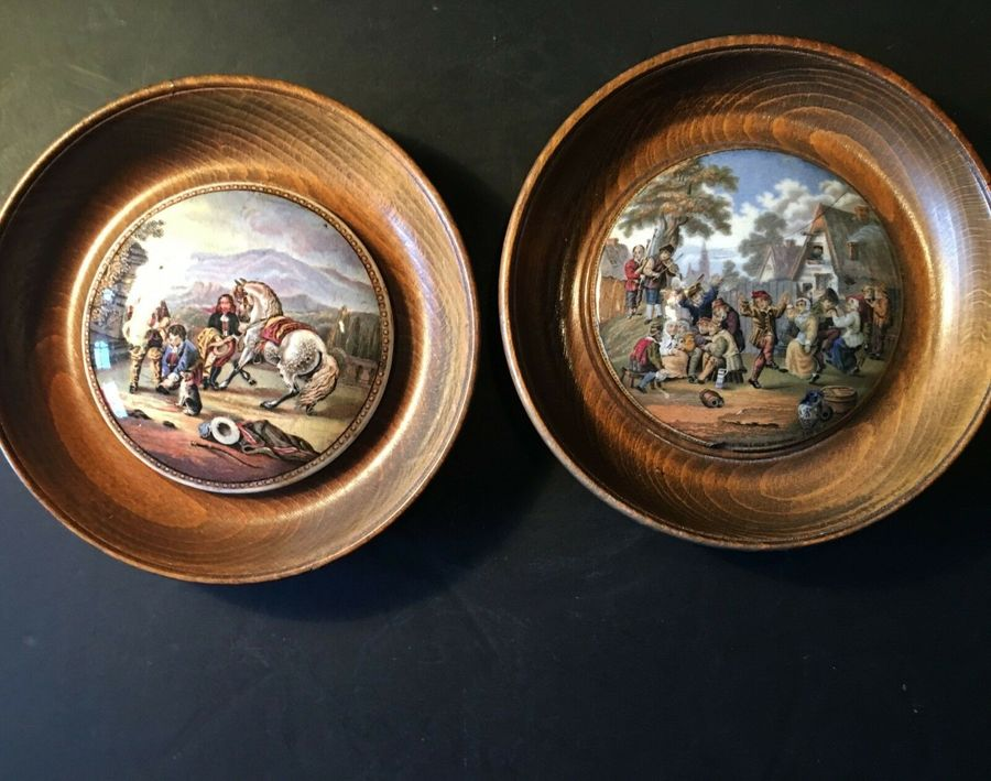 Antique Two Prat Pot Lids