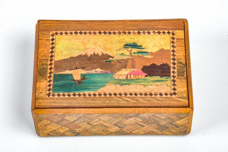 Antique An Old Chinese Wooden Box With An Opening Patent Antiques