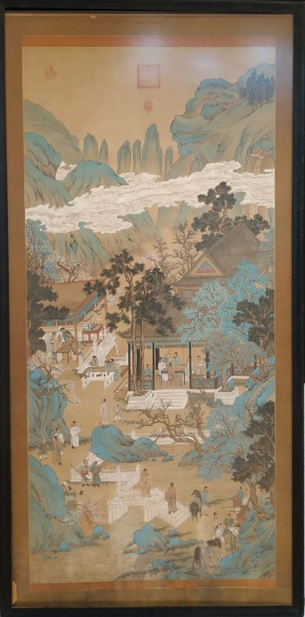 Antique A old Chinese drawing - Country scene
