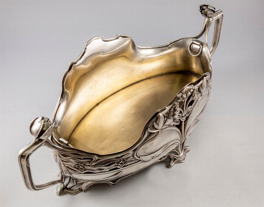 Antique Fine German Art Nouveau Silver Centerpiece