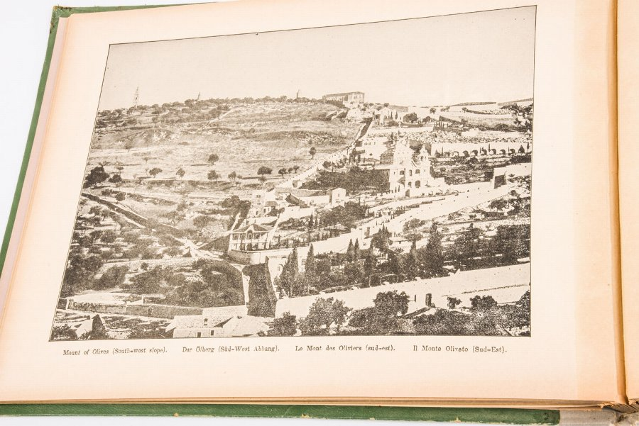 Antique Flowers and pictures from the Holy Land - an album, early 20th century