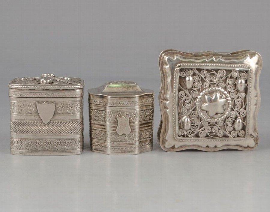 Antique Dutch Silver Snuff Box Lot | ANTIQUES CO UK |