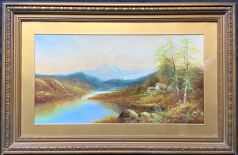 Antique A LOVELY 19thc VICTORIAN ANTIQUE SCOTTISH SCHOOL WATERCOLOUR LANDSCAPE PAINTING