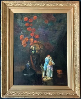 Antique Arthur William Head (1861-1930) EXQUISITE '1929' FIGURAL OIL PORTRAIT PAINTING