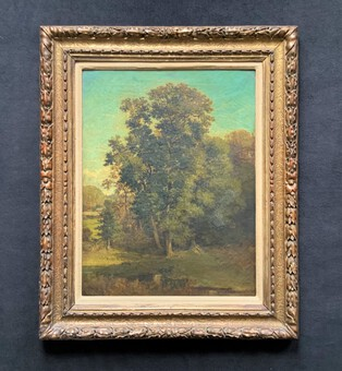 Antoine Chintreuil (1814-1873) French Barbizon School Impressionist Oil Painting