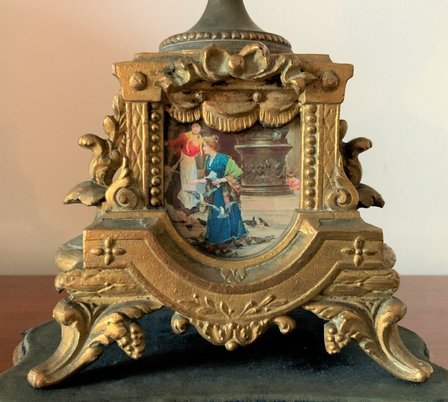 Antique OUTSTANDING 19thc FRENCH PORCELAIN ORMOLU SEVRES GARNITURE MANTLE CLOCK SET