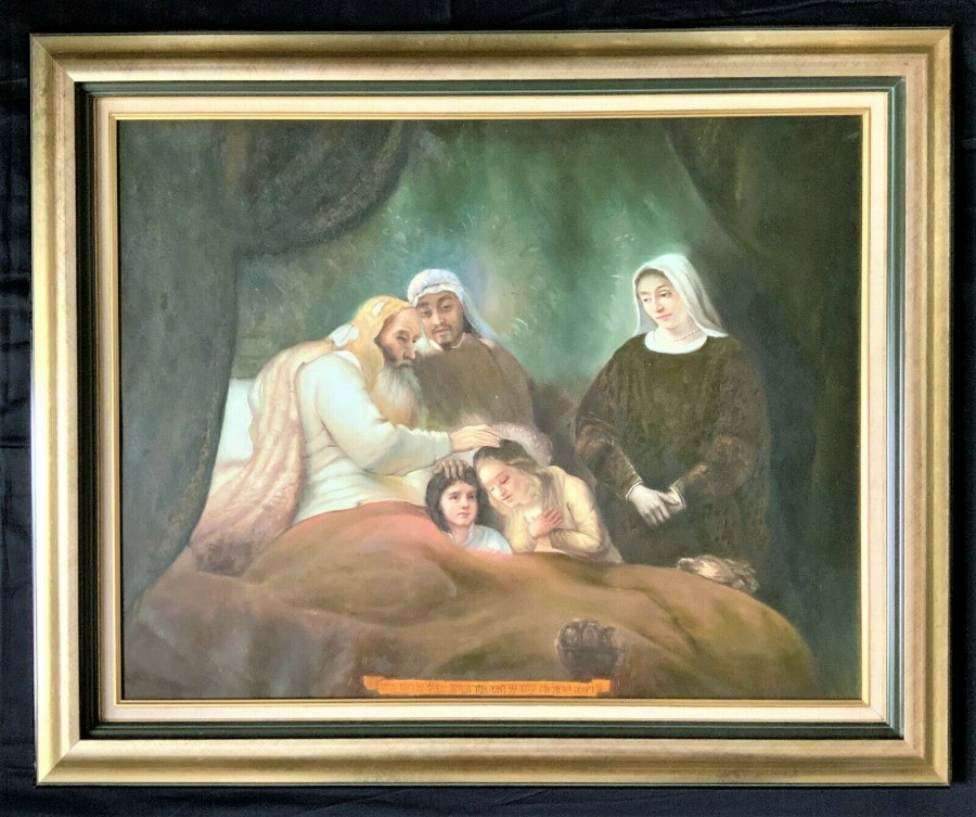 FABULOUS V.LARGE ORIGINAL 20thc RELIGIOUS BIBLICAL OIL PORTRAIT PAINTING