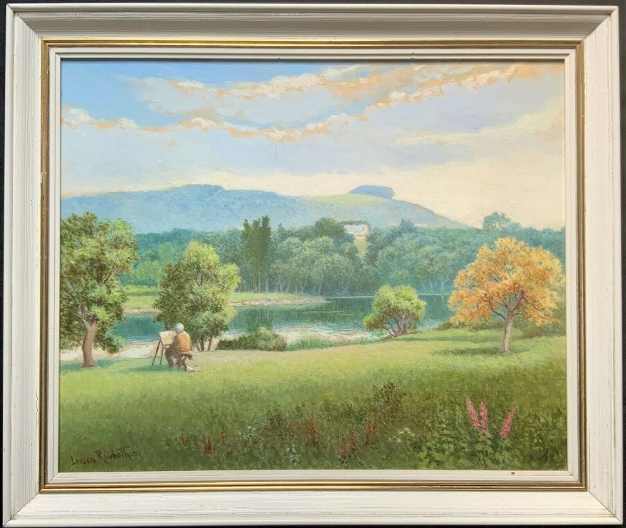 'Leeson Rowbotham' CHANCTONBURY RING, WEST SUSSEX - 20thc LANDSCAPE OIL PAINTING