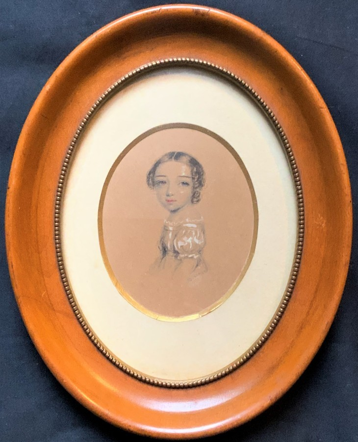 Annie Dixon (1817-1901) 19thc PORTRAIT MINIATURE OF: ROYAL Caroline of Brunswick