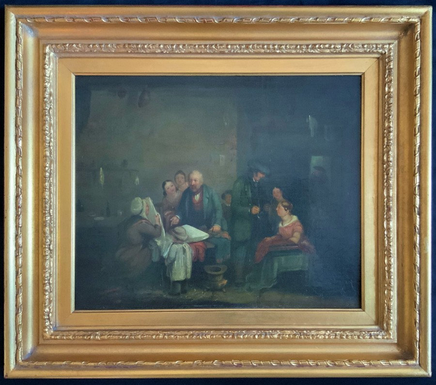 Sir David Wilkie R.A. ORIGINAL PERIOD GEORGIAN GROUP OIL PORTRAIT PAINTING C1829