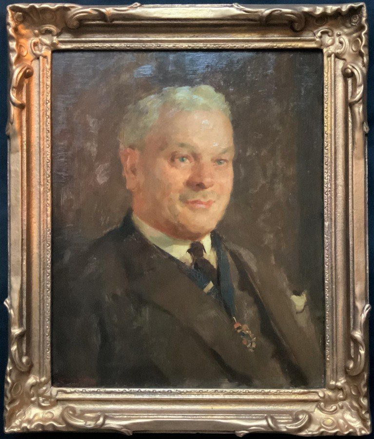 Leonard Frank Skeats (1874-1943) SUPERB OIL PORTRAIT PAINTING    'MAYOR OF BATH'