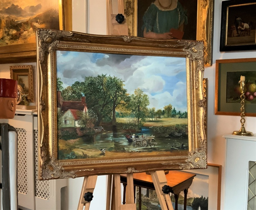 Antique Aft: John Constable (1776-1837) 'The Hay Wain' ORIGINAL OIL ON CANVAS PAINTING