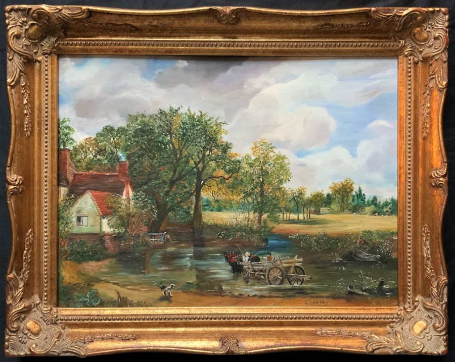 Aft: John Constable (1776-1837) 'The Hay Wain' ORIGINAL OIL ON CANVAS PAINTING