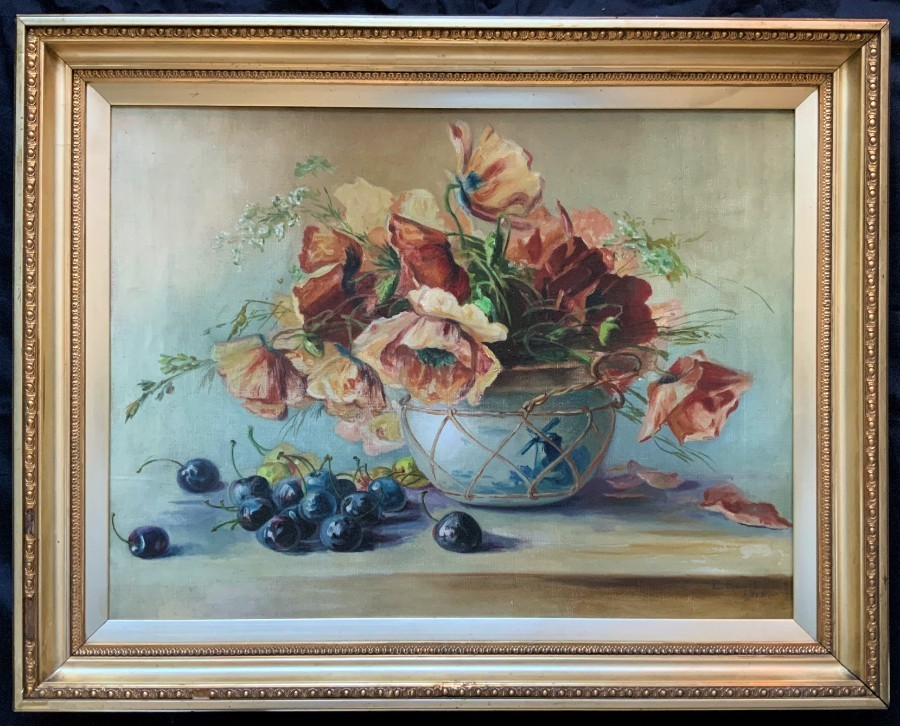 Septimus Edwin Scott (1879-1962) Beautiful Large Still Life Oil Painting (1912)