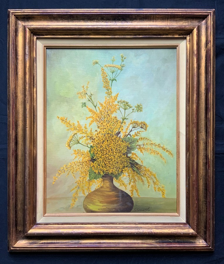 Large Superb Original Signed 20thc Floral Still Life Study Oil Painting