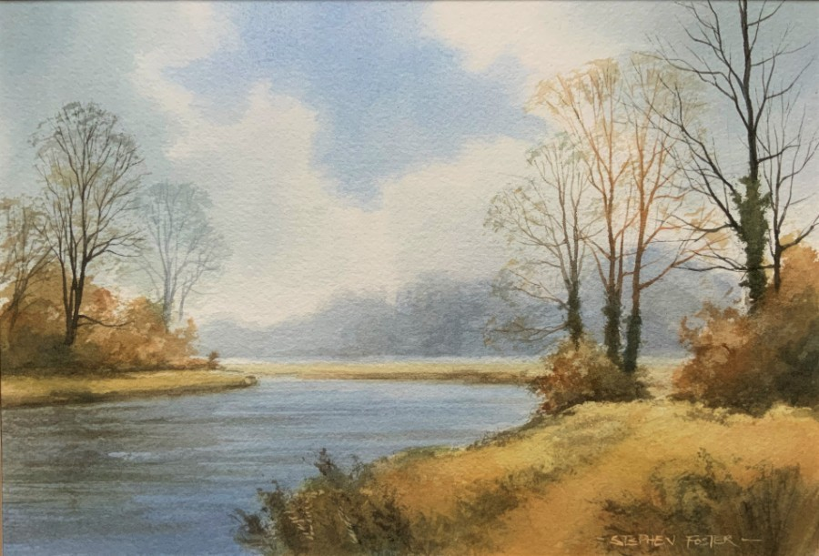 Stephen Foster - Signed Mid 20th Century Watercolour - Rural River landscape